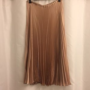 Tracy Reese Metallic Pleated A-Line Skirt